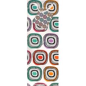 Nekupto Dárková papírová taška na láhev 1034 02 ALH ornamenty 33 x 11 x 9 cm