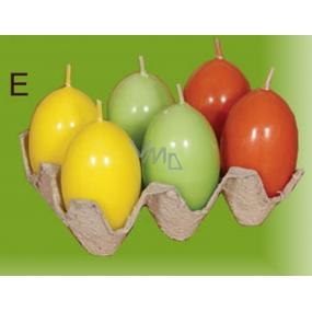 Lima Vajíčko s vůní svíčka žlutá 40 x 60 mm sada 6 kusů