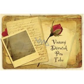Bohemia Vonný sáček Voňavý dáreček pro Tebe P10 Rosarium 17 x 11,5 x 1,5 cm