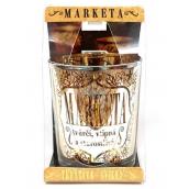 Albi Třpytivý svícen ze skla na čajovou svíčku MARKÉTA, 7 cm