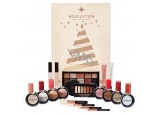 Makeup Revolution stíny, rozjasňovač, báze, bronzer, rtěnka, lesk na rty, kosmetický štětec, zrcátko, kosmetická sada