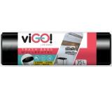 viGO! Pytle na odpad černé, 22 µ, 35 litrů 50 x 60 cm 15 kusů