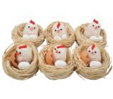 Hnízda s kuřátkem a vejci 5,5 cm 1 kus náhodný výběr
