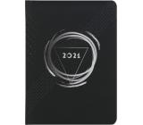 Albi Diář 2021 týdenní Pro muže černý 17 x 12,5 x 1,2 cm