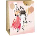 Ditipo Dárková papírová taška 11,4 x 6,4 x 14,6 cm Dvě ženy
