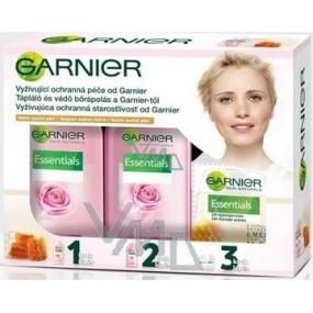 Garnier Vyživující ochranná péče voda 200 ml + mléko 200 ml + krém 50 ml, kosmetická sada