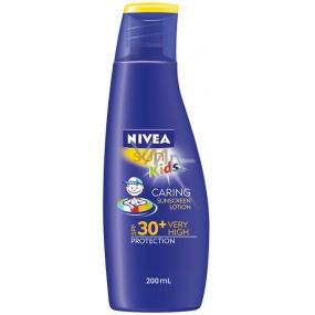 Nivea Kids Caring sun SPF30 mléko na opalování pro děti 200 ml