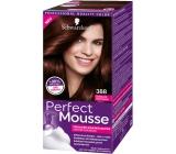 Schwarzkopf Perfect Mousse Permanent Foam Color barva na vlasy 388 Tmavě červenohnědý