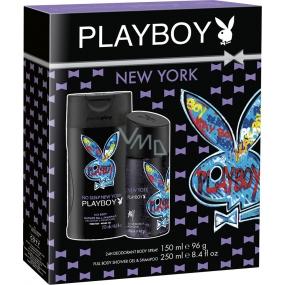 Playboy New York deodorant sprej pro muže 150 ml + sprchový gel 250 ml, kosmetická sada