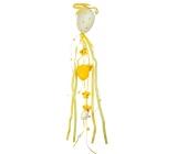 Závěs plastové vejce velké s dekoračními stuhami žlutý 55 cm
