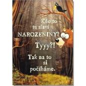 Albi Hrací přání do obálky K narozeninám Loupežnická Jiří Lábus a Jií Pecha 14,8 x 21 cm