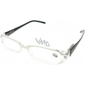 Berkeley Čtecí dioptrické brýle +2,50 bílé, černé ručky 1 kus MC2089