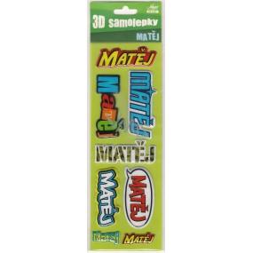 Nekupto 3D Samolepky se jménem Matěj 8 kusů 048