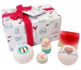 Bomb Cosmetics Dárek plný lásky balistik 2x160 g + kulička 30 g + špalíček 50 g + mýdlo 100 g, kosmetická sada