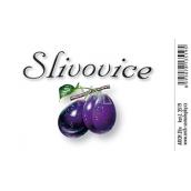 Arch Samolepka Slivovice velká etiketa 8,5 x 5,5 cm 1 kus