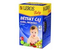 Leros Baby Kašel, průdušky bylinný čaj pro děti 20 x 1,5 g