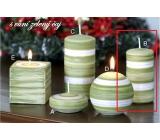 Lima Zimní třpyt Zelený čaj vonná svíčka válec 50 x 100 mm 1 kus