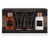 Baylis & Harding Černý pepř a Ženšen tekuté mýdlo na tělo i vlasy 100 ml + mycí gel na obličej 50 ml + balzám po holení 100 ml + sprchový gel 50 ml kosmetická sada pro muže