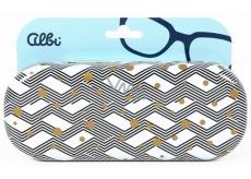 Albi Original Pouzdro na brýle plechové Cikcak se zlatými puntíky 15,7 x 6,2 x 3,2 cm