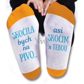 Nekupto Rodinné dárky s humorem Ponožky Skočila bych na pivo, velikost 43-46