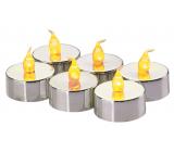 Emos Svíčky LED svítící jantarové, 3,8 cm, 6 kusů stříbrné