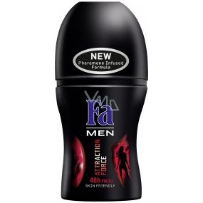 Fa Attraction Force kuličkový deodorant roll-on pro muže 50 ml