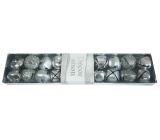 Rolničky stříbrné v krabičce 2 cm 20 kusů