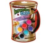 Amos Barvy akrylové na keramiku a sklo blistr 6 odstínů x 3 ml + štěteček