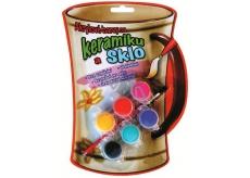 Amos Barvy na sklo a keramiku akrylové blistr 6 odstínů x 3 ml + štěteček