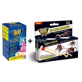 Biolit Kids Elektrický odpařovač náhradní náplň 45 nocí proti komárům 35 ml + Biolit Plus gel proti mravencům 1 kus