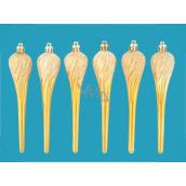 Rampouchy glitrový dekor na zavěšení 15 cm, 6 kusů