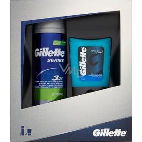 Gillette Series Sensitive gel na holení pro citlivou pleť 200 ml + Gillette After Shave Gel gel po holení pro citlivou pleť 75 ml, kosmetická sada