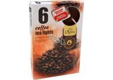 Tea Lights Coffee s vůní kávy vonné čajové svíčky 6 kusů