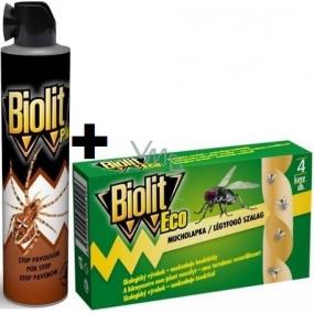 Biolit Plus Stop pavoukům spray 400 ml + Biolit Eco mucholapka 4 kusy