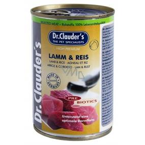 Dr. Clauders Jehněčí maso s rýží kompletní superprémiové krmivo pro dospělé ps 92% masa 400 g