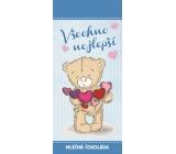 Bohemia Gifts & Cosmetics Mléčná čokoláda Všechno nejlepší méďa, dárková 100 g