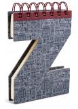 If Alphabooks Note Books Zápisník ve tvaru písmena Z 91 x 14 x 124 mm