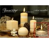 Lima Zimní třpyt Vanilka vonná svíčka plovoucí čočka 70 x 30 mm 1 kus