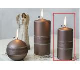 Lima Sparkling svíčka světle hnědá válec 60 x 120 mm