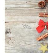 Nekupto Vánoční kartičky na dárky mašle červená 6,5 x 6,5 cm 6 kusů