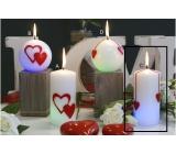 Lima Valentýnská magická svíčka Srdce válec 60 x 120 mm 1 kus