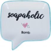 Bomb Cosmetics Soapaholic Soap Dish Keramická miska na mýdlo 12,5 x 12,5 cm