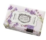 Panier des Sens Levandule modrá luxusní mýdlo s bambuckým máslem 200 g