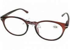 Berkeley Čtecí dioptrické brýle +2,5 plast hnědé, kulaté skla 1 kus MC2171