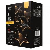 Emos Hvězda závěs 8 LED, teplá bílá