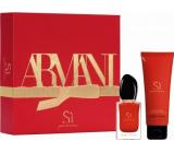 Giorgio Armani Sí Passione parfémovaná voda pro ženy 30 ml + tělové mléko 75 ml, dárková sada