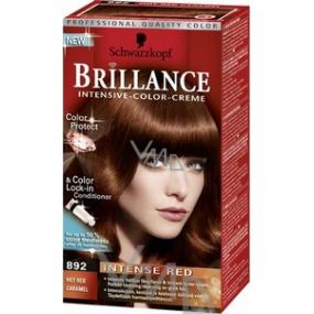 Schwarzkopf Brillance Color Creme barva na vlasy 892 horký červený karamel 50 ml