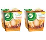 Air Wick Essential Oils Infusion Orange & Festive Pomeranč a sváteční koření Spice vonná svíčka ve skle 2 x 105 g