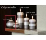 Lima Elegance White svíčka světle hnědá koule průměr 80 mm 1 kus