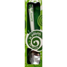 Nekupto Twister Lžička s názvem Jsi jedinečný zelená 16 cm